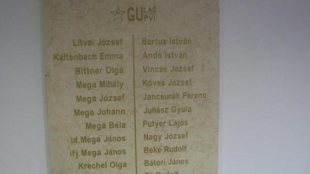 A Szovjetunióba hurcolt politikai foglyok és kényszermunkások emléktáblája (Rudabánya)