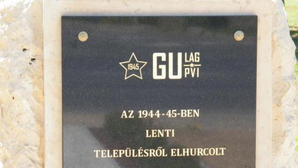 Emlékmű a Lentiből elhurcolt politikai foglyok és kényszermunkások emlékére
